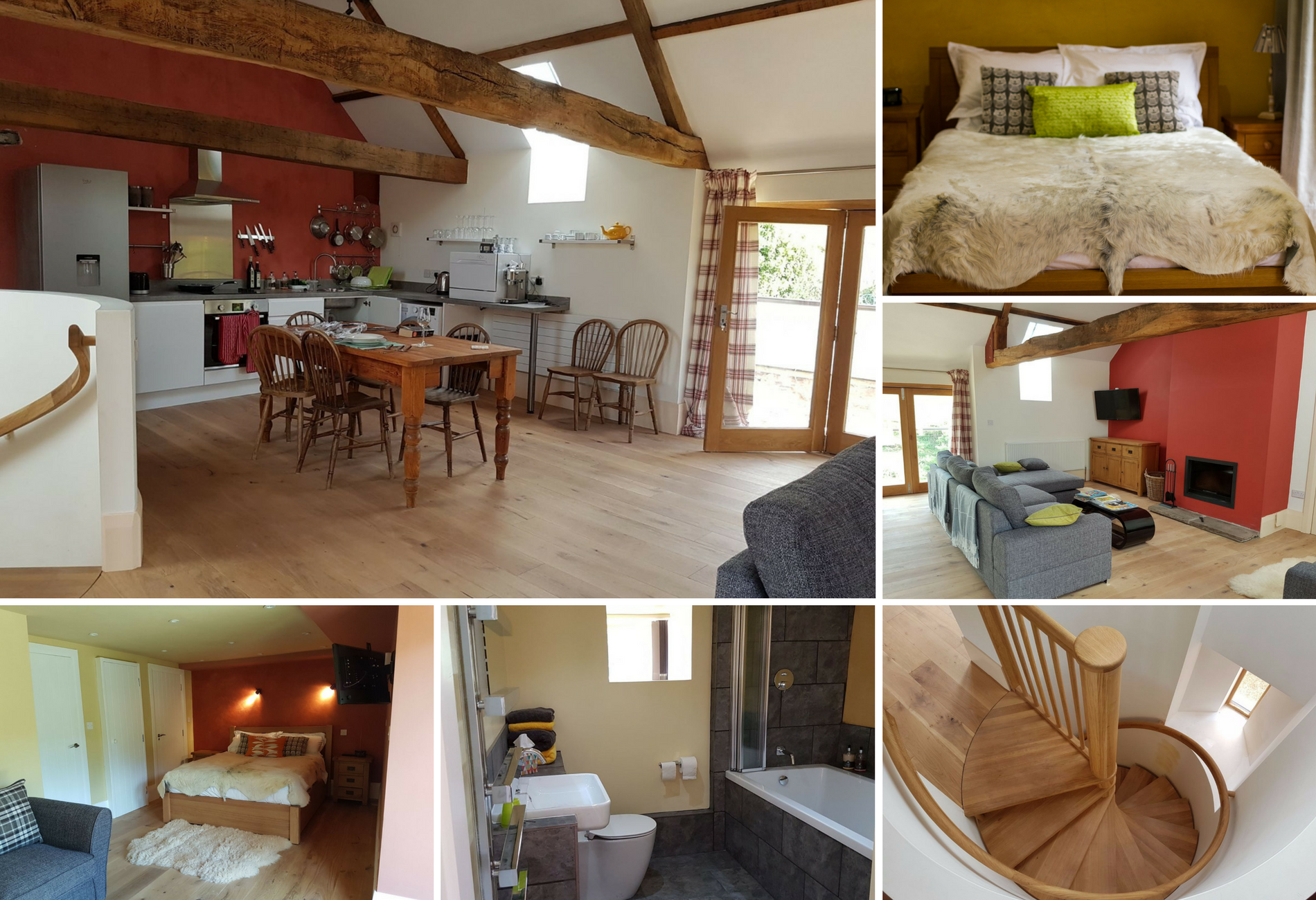 Yaffle Barn New Court Holiday Cottages luxury self catering accommodation Usk, Monmouthshire South Wales